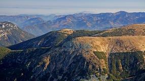 Widok od wzgórza Chopok Obraz Stock