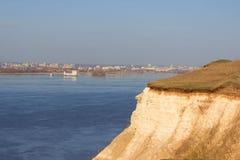 Widok od wzgórza na Volga rzece Fotografia Stock