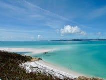 Widok od wzgórze wpusta spojrzenia out w Whitsundays wyspach w Australia fotografia royalty free