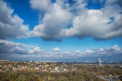 Widok od wzrostów Kyiv obraz royalty free