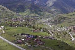 Widok od wzrosta górska wioska Fotografia Stock