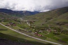 Widok od wzrosta górska wioska Obraz Stock