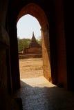 Widok od Ywa Haung Gyi świątyni Fotografia Stock