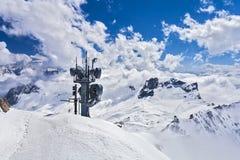 Widok od Zugspitze Niemcy Zdjęcia Stock