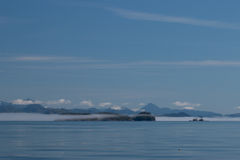 Widok, odbijać spokojnego morze Kanada ` s Wśrodku przejścia i Fotografia Stock