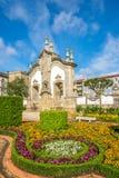 Widok ogród botaniczny w Barcelos, Portugalia Zdjęcie Stock