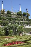 Widok ogródy na Isola Bella, Jeziorny Maggiore obrazy royalty free