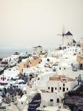 Widok Oia w Santorini wyspie Zdjęcia Royalty Free