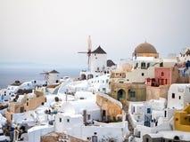 Widok Oia w Santorini wyspie Obraz Royalty Free