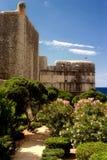 Widok okopu ściany Dubrovnik Obrazy Royalty Free