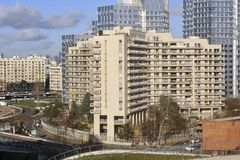 Widok okręg Boulogne Billancourt zdjęcie royalty free