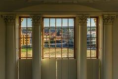 Widok Oksfordzki nowy i stary klasyczny budynek na ciepłym słonecznym dniu fotografia royalty free