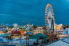 Widok Oktoberfest w wieczór Obraz Stock