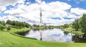 Widok Olympiapark, Monachium Zdjęcie Royalty Free