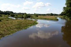 Widok op Holenderski krajobraz zdjęcie stock