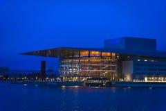 Widok opera, Kopenhaga, Dani zdjęcia stock
