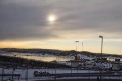 Widok Oslo w zima czasie Obrazy Stock