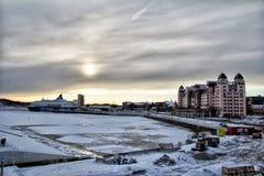 Widok Oslo w zima czasie Zdjęcie Stock