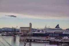 Widok Oslo w zima czasie Zdjęcia Royalty Free