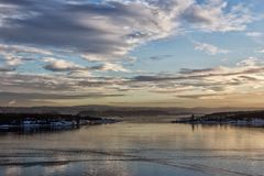 Widok oslofjord Obrazy Royalty Free
