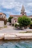Widok Osor miasteczko w Cres wyspie Obraz Royalty Free