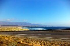 Widok północny morze chile Coquimbo zdjęcia stock