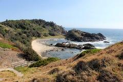 Widok północ od halsowanie punktu, Portowy Macquarie 2 Obrazy Royalty Free