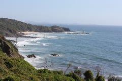 Widok północ od halsowanie punktu, Portowy Macquarie 1 Obrazy Stock