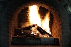 Widok płonący drewno zdjęcie royalty free