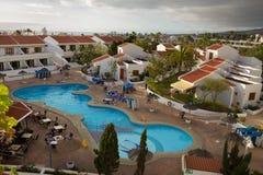 Widok pływanie basen outside Fotografia Stock