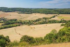 Widok paśniki i pola od szczytu Sion-Vaudemont wzgórze obrazy royalty free