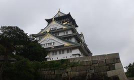 Widok pałac w Osaka Japonia Zdjęcia Royalty Free