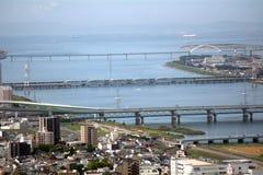 Widok Pacyficzny ocean, Osaka, Japonia Zdjęcie Royalty Free