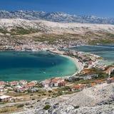Widok Pag w Chorwacja Fotografia Stock