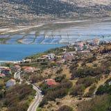 Widok Pag w Chorwacja Zdjęcie Royalty Free