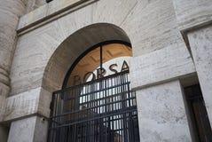 Widok Palazzo della Borsa Obraz Royalty Free