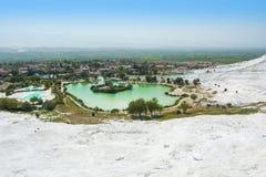Widok Pamukkale, Turcja Widoki Turcja Obraz Stock