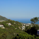 Widok panoramiczny od Mijas Zdjęcia Royalty Free