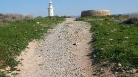 Widok Paphos Archeologiczny park w Cypr zdjęcie wideo
