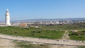 Widok Paphos Archeologiczny park w Cypr zbiory wideo