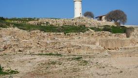 Widok Paphos Archeologiczny park w Cypr zbiory