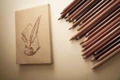 Widok papier i ołówki obrazy royalty free