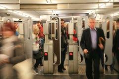 widok Paris metra widok Obrazy Stock