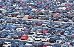 Widok parking Zdjęcia Stock