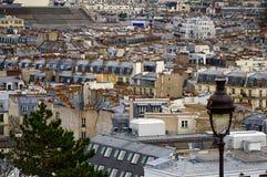 Widok Paryż od basilika sacre coer zdjęcia stock
