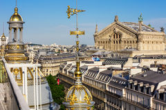 Widok Paryż od dachu Printemps Wydziałowy sklep zdjęcie royalty free
