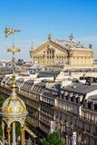 Widok Paryż od dachu Printemps Wydziałowy sklep zdjęcia royalty free