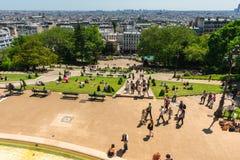 Widok Paryż od Sacre Coeur bazyliki wzgórza Obraz Royalty Free