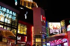 Widok pasek w Las Vegas Zdjęcie Stock