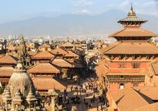 Widok Patan Durbar kwadrat fotografia stock
